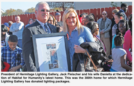 Hermitage Lighting Gallery Donates To 300th Home
