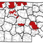 """The """"red"""" represents ZIP Codes where people can use the THDA's Great Choice Home Loan program. They include 37086, 37115, 37208, 37217, 37218, and 37207."""