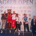 Kamal Bey (4th from the left) earned the bronze medal (third place) at Zagreb Open, a Greco-Roman world wrestling tournament, in Croatia.