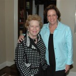 The late Margaret Ann Robinson and her daughter, Libby Page, at a library fundraiser in 2011.