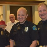 Belle Meade Police Officers (l-r) Keith Samol and Wes Baker were honored recently along with Police Chief Tim Eads at St. George's Episcopal Church. Looking on behind them are church members Lucious Carroll and Sue Claxton.	    - photo by Dru Smith