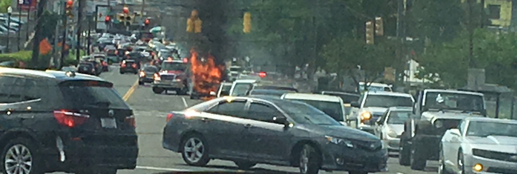 On Monday, May 8, a van in front of Hillsboro High School on Hillsboro Road ignited around 3 pm. Firefighters were quickly on the scene and extinguished the blaze without incident.
