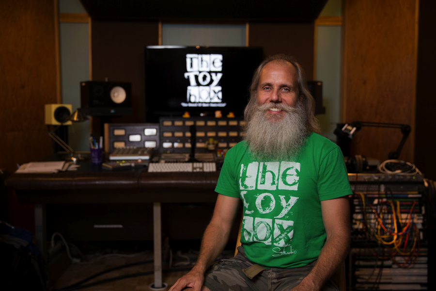 Lij Shaw at The Toy Box Studio, a recording studio he runs out of his East Nashville home.               -photo submitted
